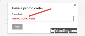 Paste coupon code on learn how to start a blog