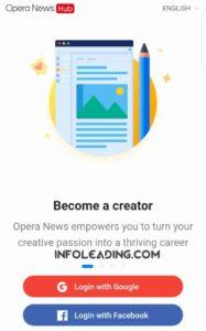 Become creator on opera news hub