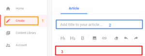 Create your first post with opera news hub
