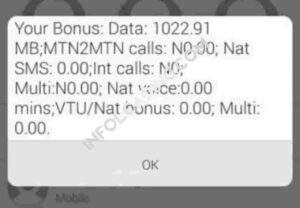 Free MTN data code
