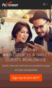 PAYONEER ACCOUNT sign up